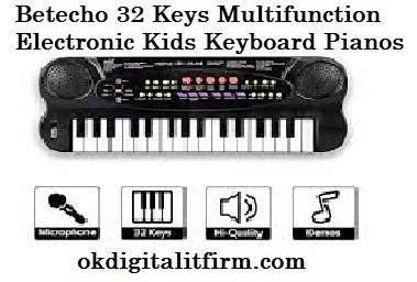Betecho 32 Keys Multifunction Electronic Kids Keyboard Pianos