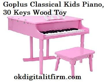 Goplus Classical Kids Piano, 30 Keys Wood Toy