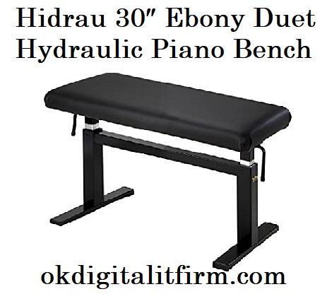 Hidrau 30″ Ebony Duet Hydraulic Piano Bench