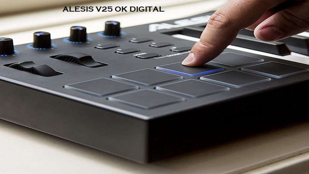 Best Alesis V25 Review | 25 Key USB MIDI Keyboard Controller with Backlit Pads