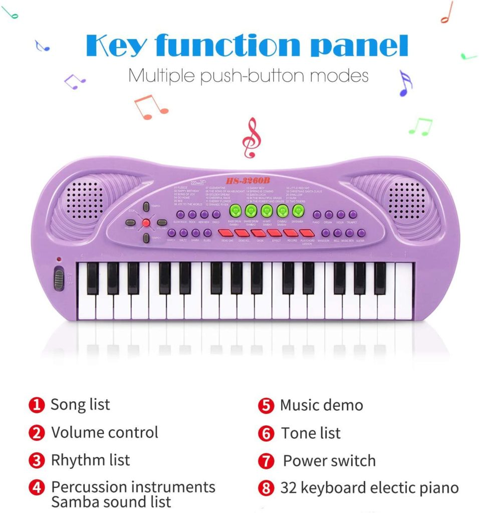 Betecho 32 Keys Multifunction Electronic Kids Keyboard Piano