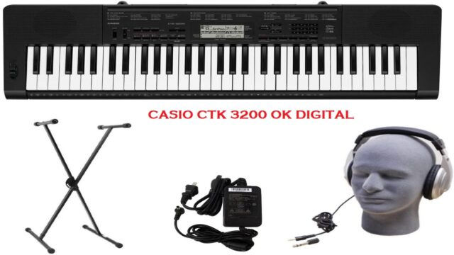 Best Casio CTK 3200 Review 61-Key Premium Portable Keyboard Package with Headphones