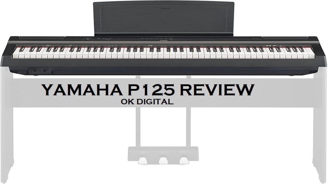 Best Yamaha P125 Digital Piano - Black Bundle with Yamaha L-125 Stand