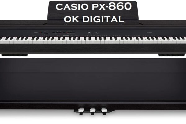 Best Casio PX860 BK Privia Digital Home Piano, Black with Power Supply