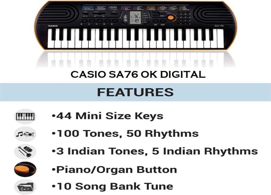 Best Casio SA-76 Review Of 44-Key Mini Personal Keyboard In 2020