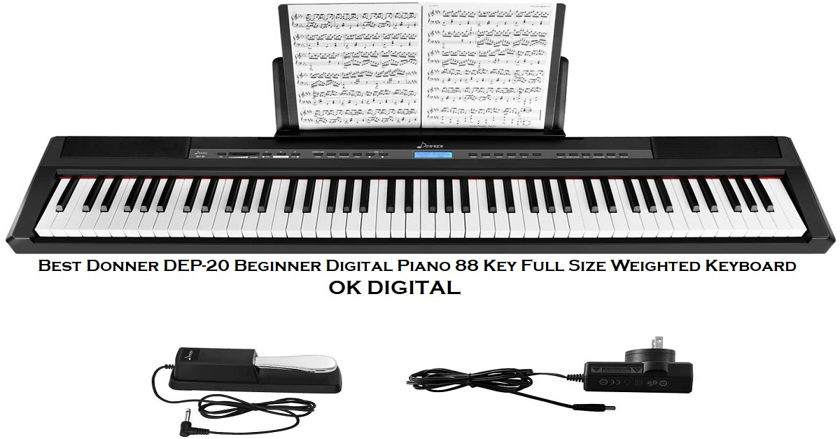 Best Donner DEP-20 Beginner Digital Piano 88 Key Full Size Weighted Keyboard
