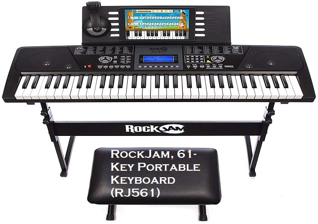 RockJam 61 Key Portable Keyboard RJ561