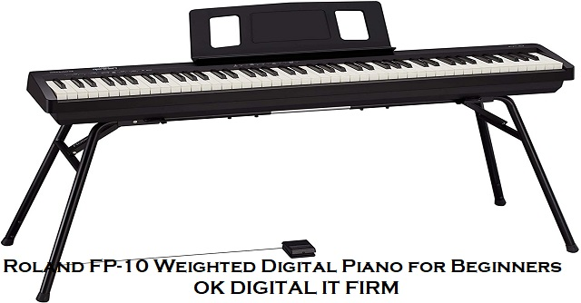 Roland FP-10 Weighted Digital Piano for Beginners