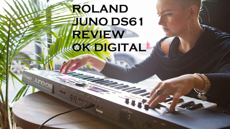 Best Roland Juno DS61 Review-Key Lightweight Synth-Action Keyboard with Pro Sounds