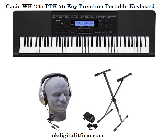 Casio WK-245 PPK 76-Key Premium Portable Keyboard