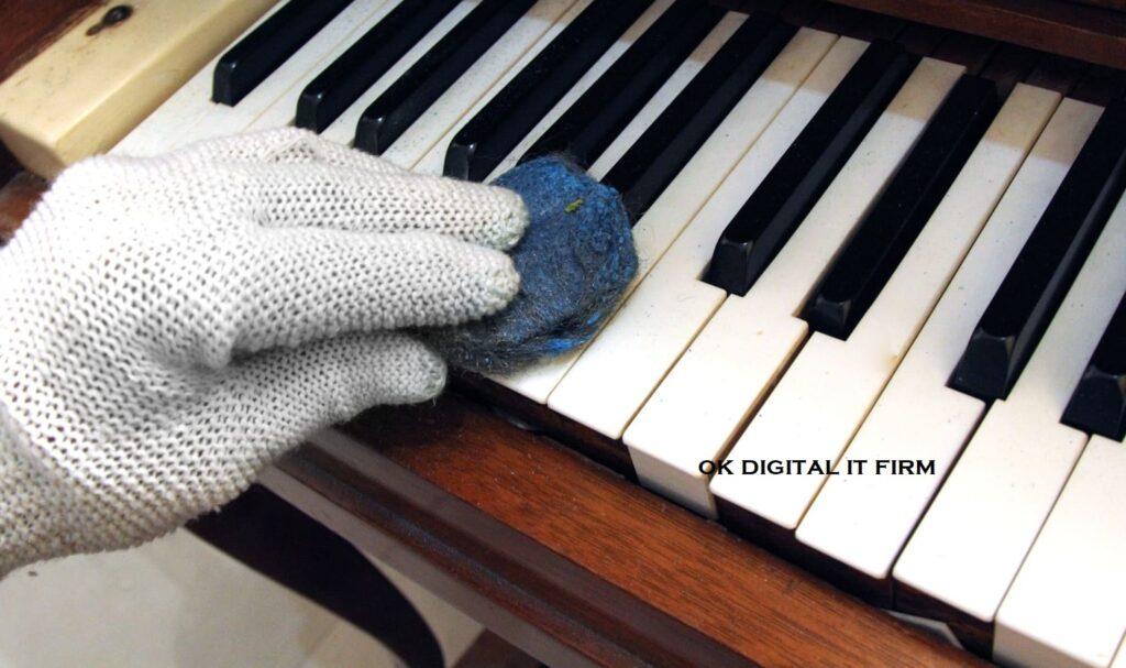 clean piano keys