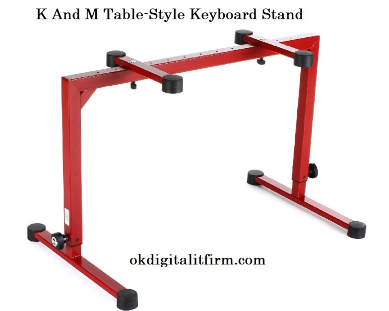 K And M Table-Style Keyboard Stand
