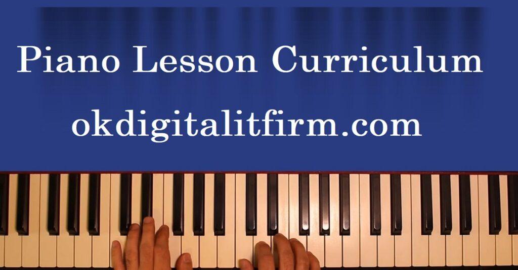 Piano Lesson Curriculum