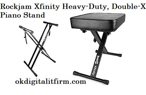 Rockjam Xfinity Heavy-Duty, Double-X Piano Stand