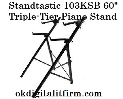 """Standtastic 103KSB 60"""" Triple-Tier Piano Stand"""