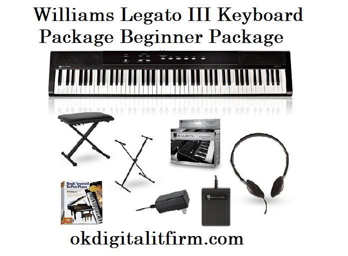 williams legato iii keyboard package beginner package