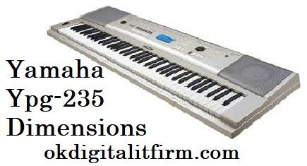 yamaha ypg-235 dimensions